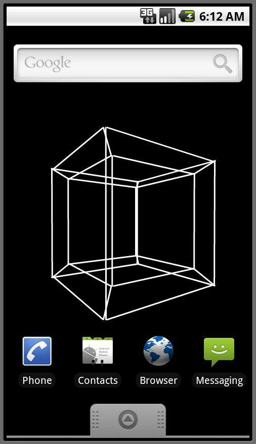 Android Hypercube Live Wallpaper