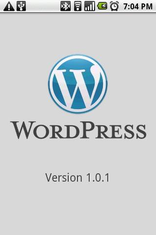 WordPress za Android - Start Screen