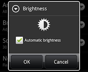 automatic brightness