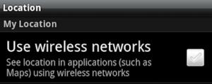 Use wireless network setting