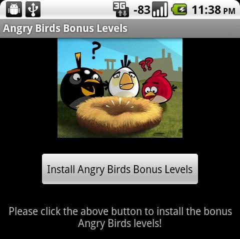 angry birds bonus nivoi