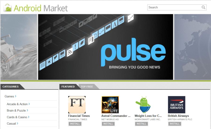 Android Market Web Klijent