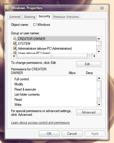 Windows Privilegije
