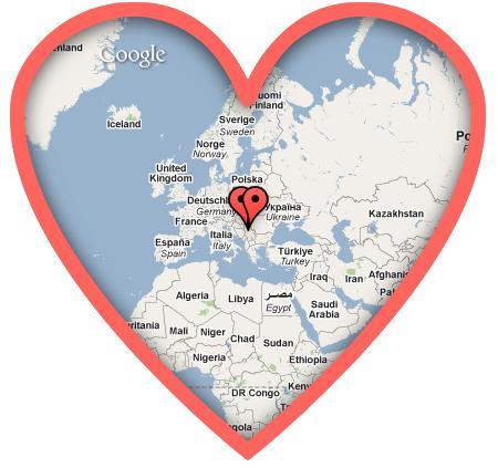 mapa srce