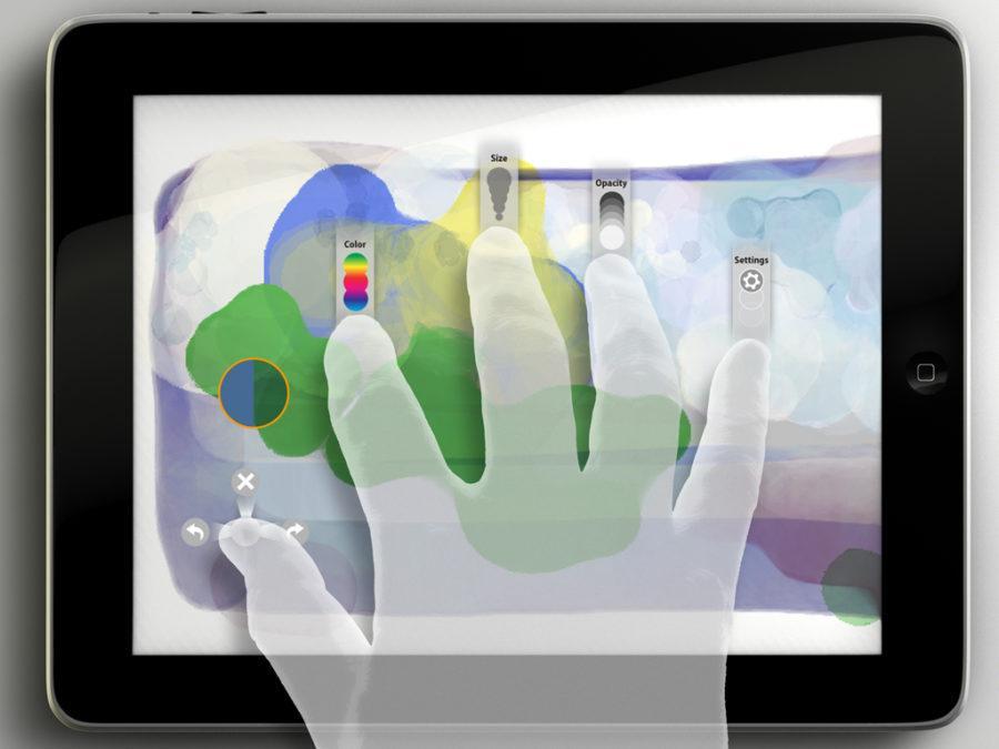 Adobe Eazel full screen view