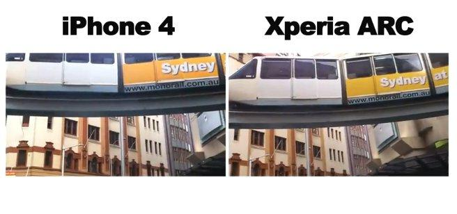 Xperia Arc vs iPhone 4