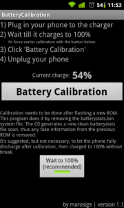 Battery Calibration