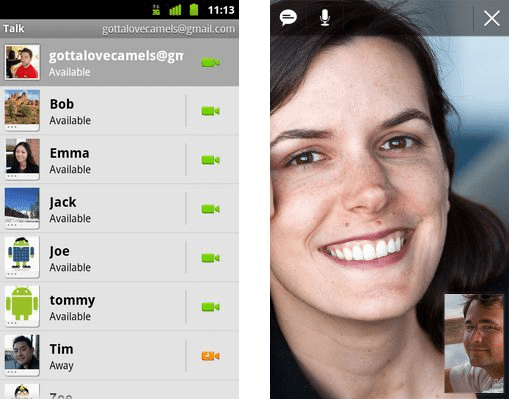 Video chat Gtalk Android