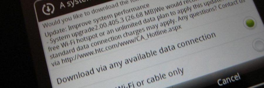 HTC Flyer OTA update