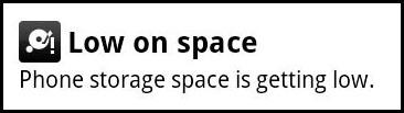 low on space