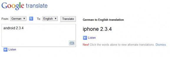 Goolle Translate greska