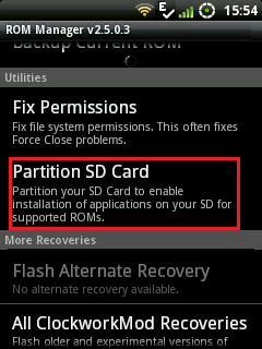 partition sd