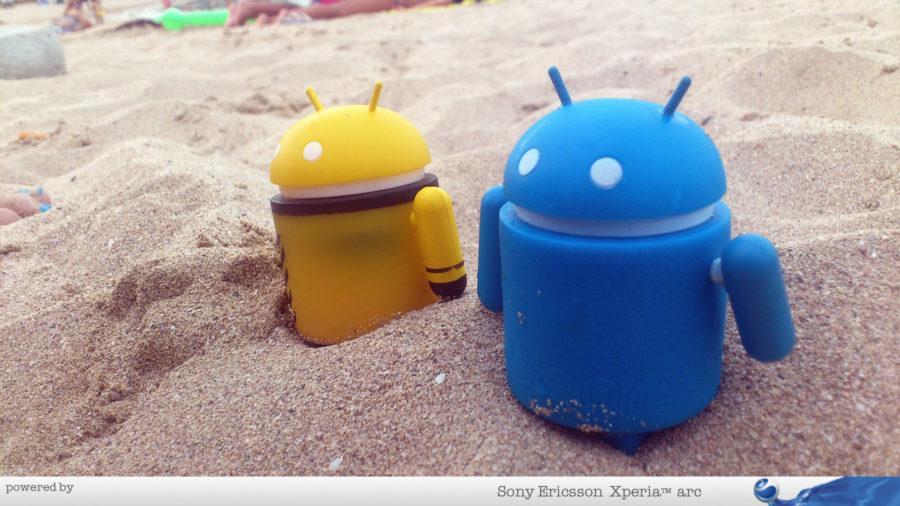 Androidi kuliraju u pesku