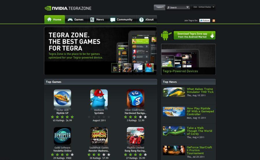 Tegra Zone sajt