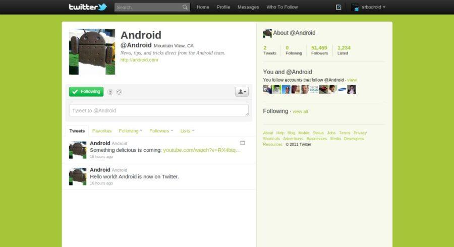 android twitter nalog