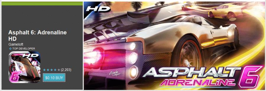 Asphalt 6: Adrenaline HD 10c