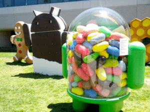Google Jelly Bean statua