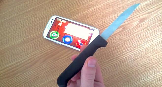 SGS3 Fruit Ninja pravi nož