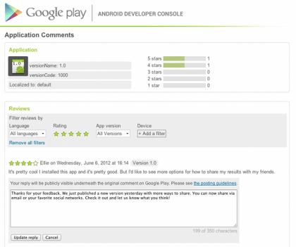 Google Play komentari