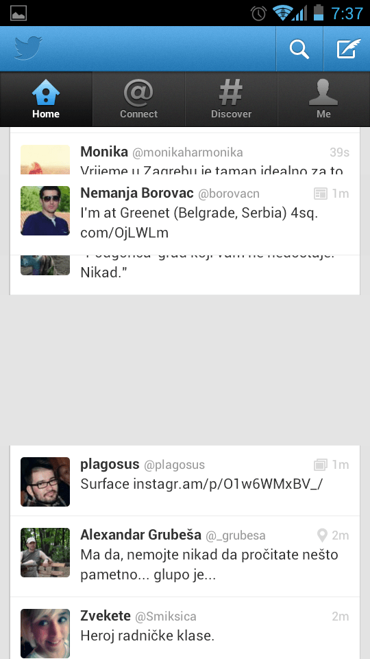 Twitter for Android bug