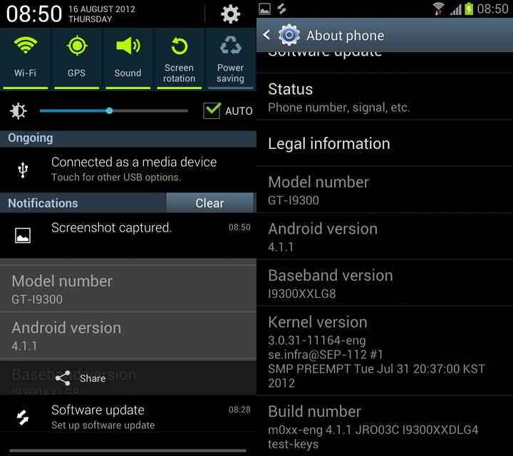 Android 4.1.1 Jelly Bean for Samsung Galaxy S-III
