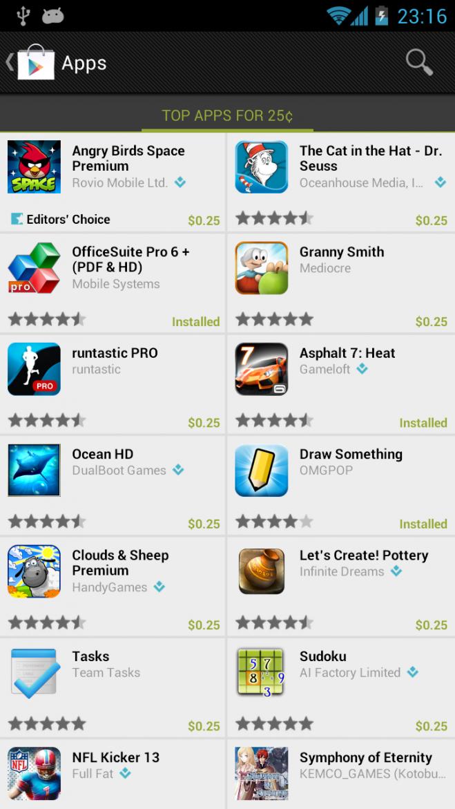 Akcija Google Play Store