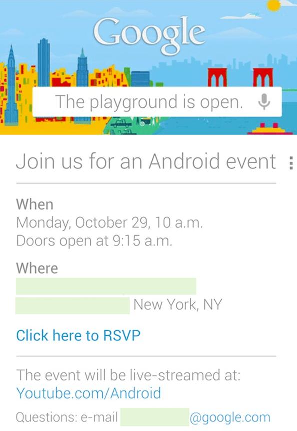 Google Dogadjaj 29.10.2012