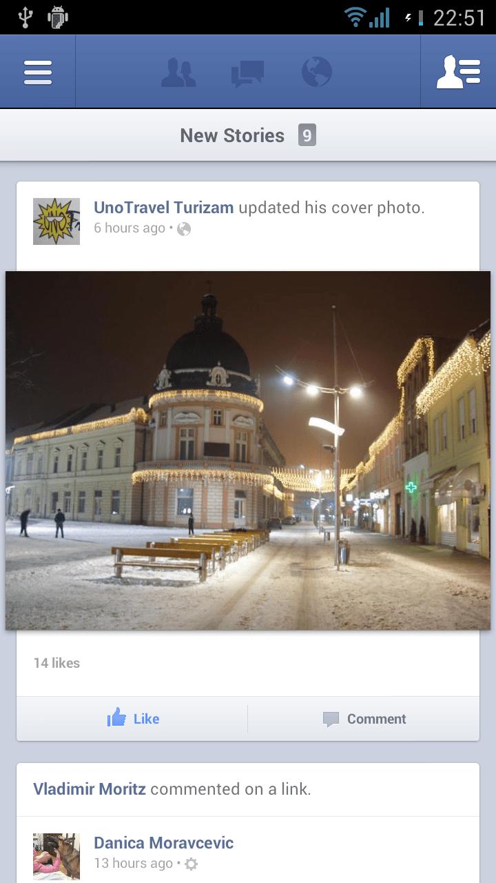 Facebook za Android screenshot