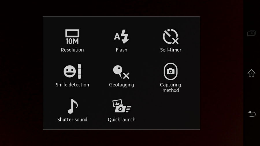 Sony Xperia T kamera