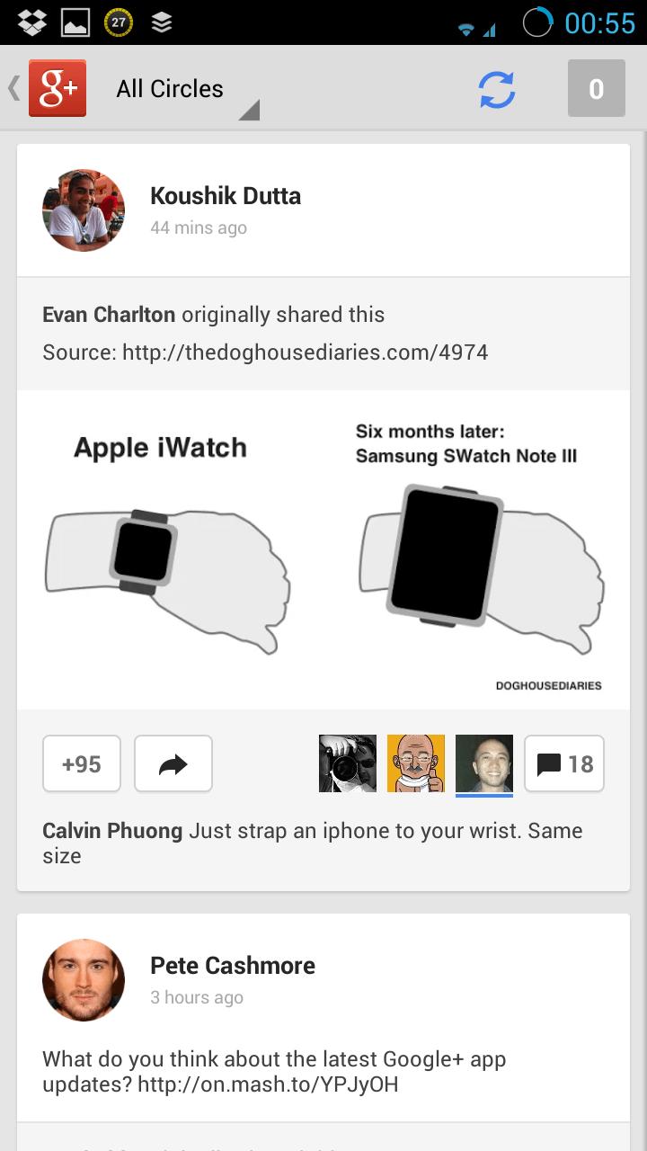 Novi Google+