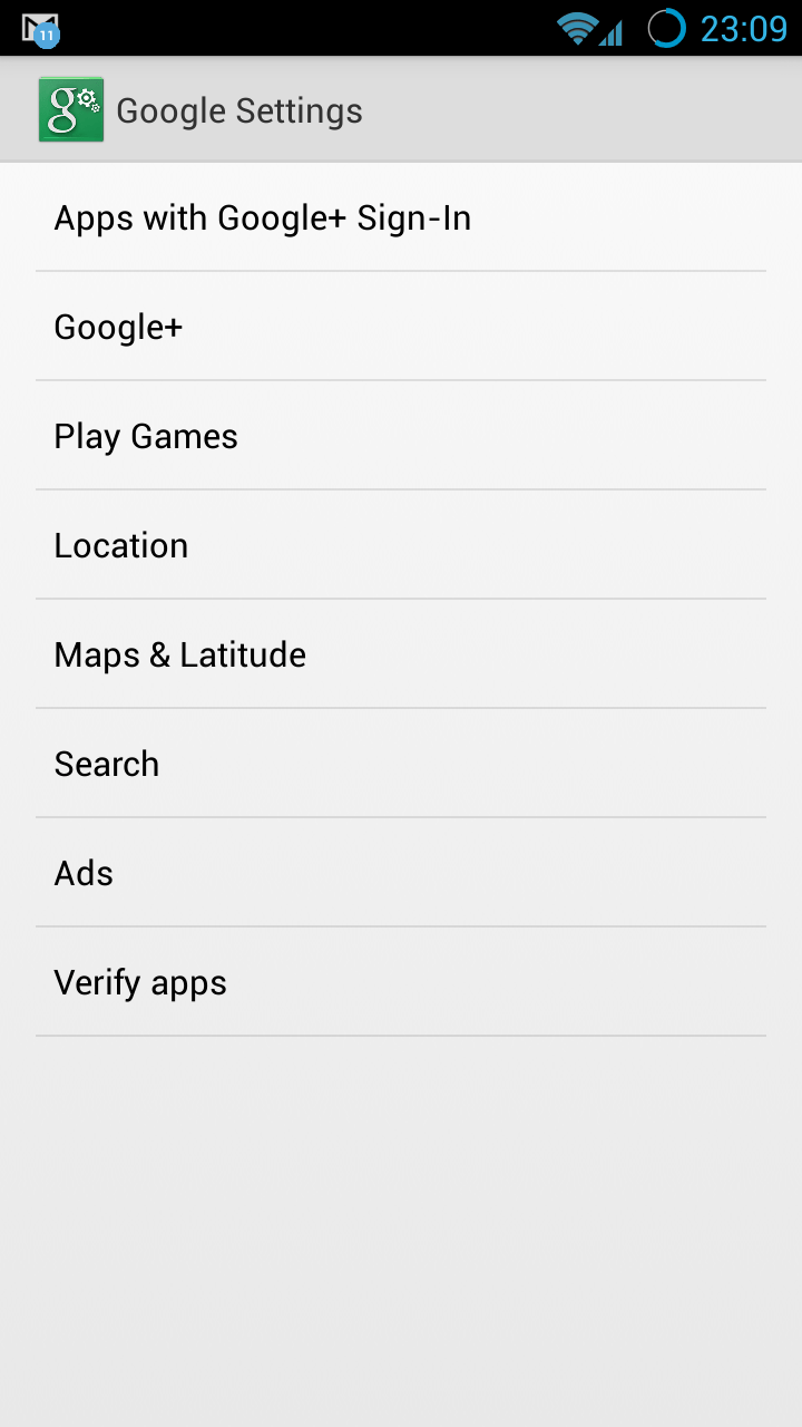 Google Settings