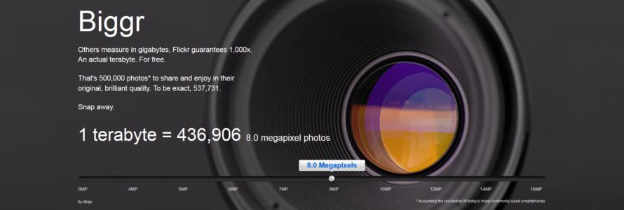 Flickr 1 terabyte