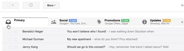 gmail tabovi