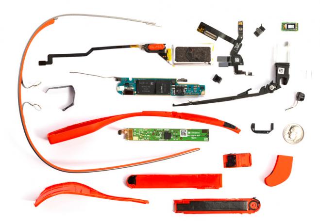 Google Glass rastavljen