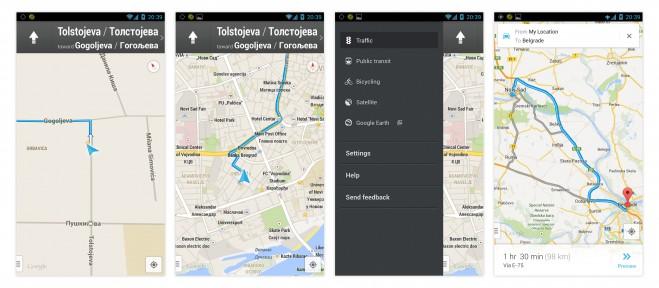 Google Mape Navigacija Srbija
