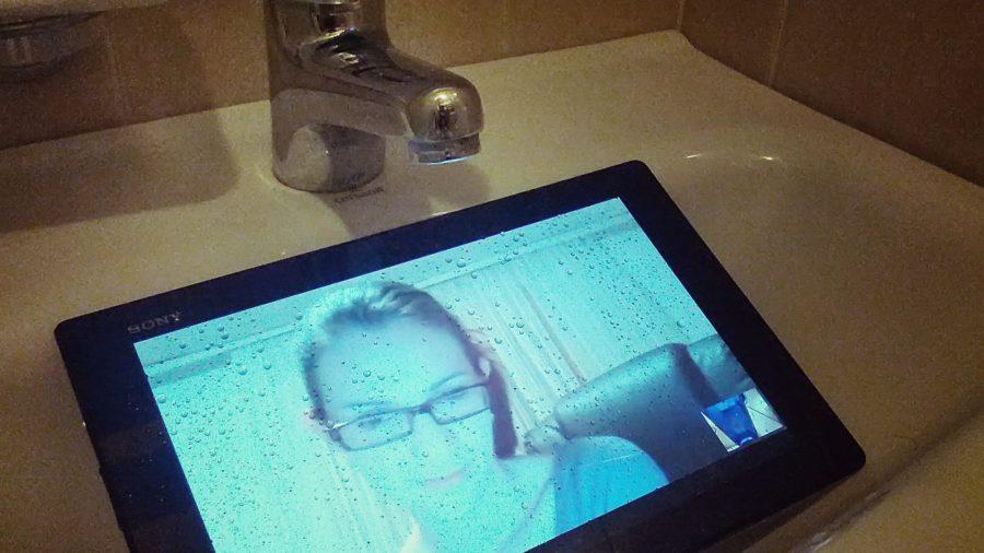Xperia Tablet Z pod vodom
