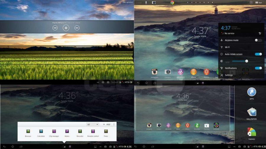 sony tablet z interface
