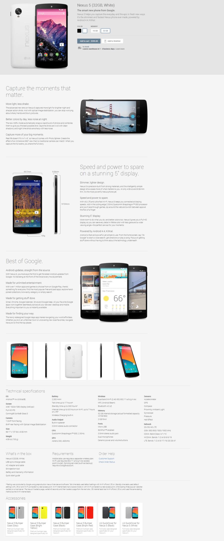 Nexus 5 32GB White Devices on Google Play