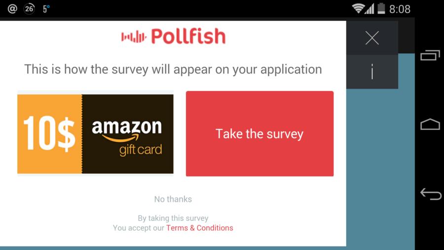 PollFish nagrada za korisnika