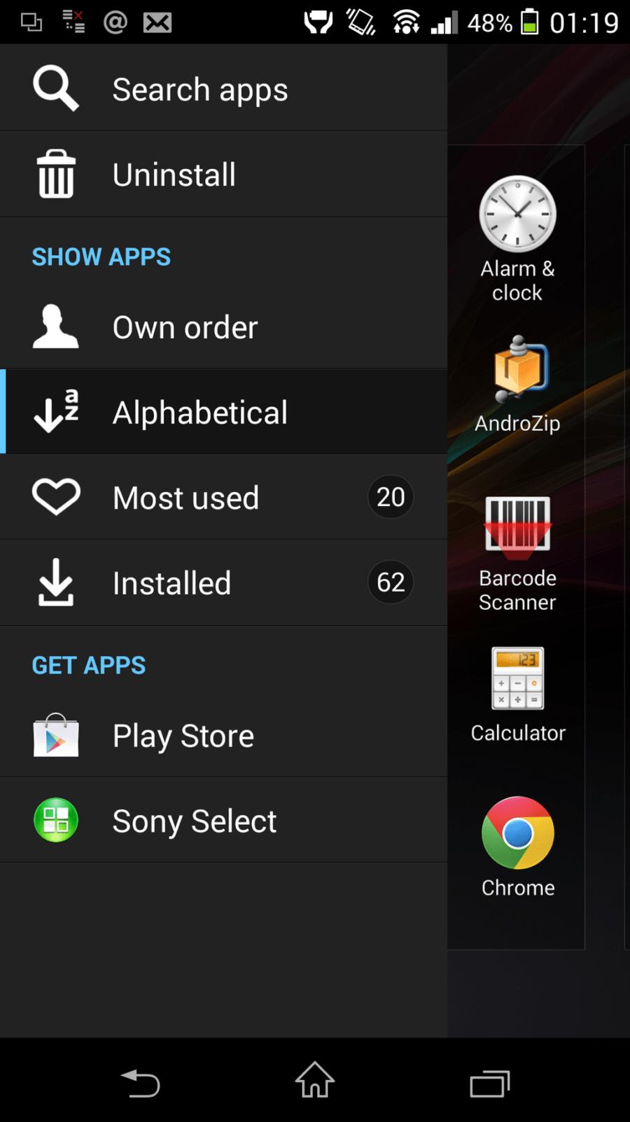 Xperia Z1 4.3 update