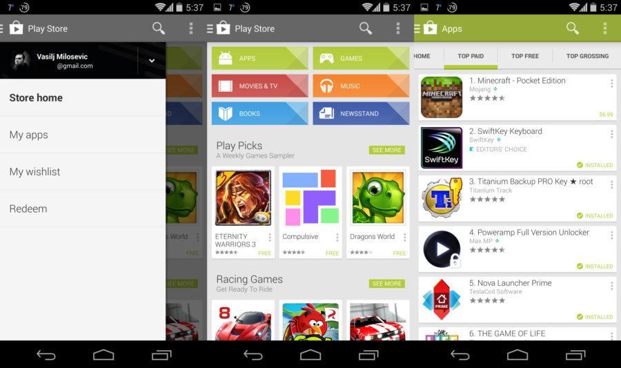 Otkljucan Play Store
