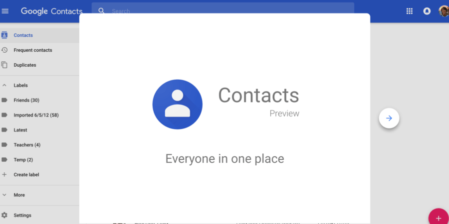 google contacts material design