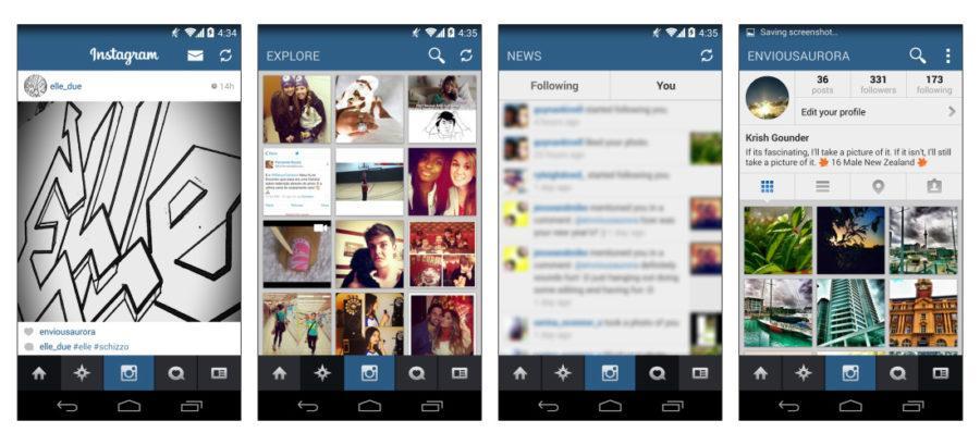 Flat Instagram Screenshots