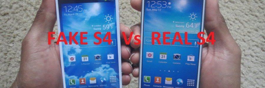 Samsung Galaxy S4 vs fake