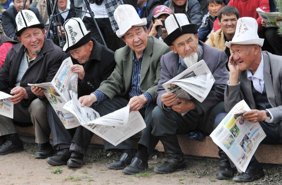 Kyrgyz opposition activists rally to dem