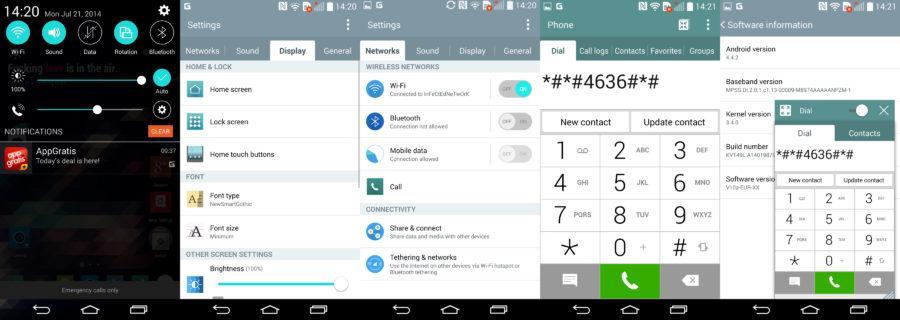 LG G3 Optimus UI Interface