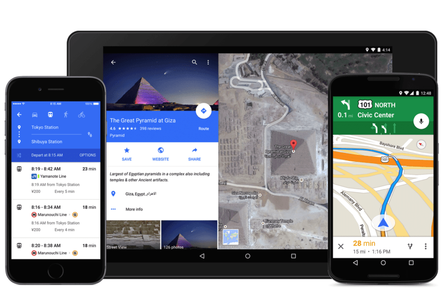 google maps material design 9.0
