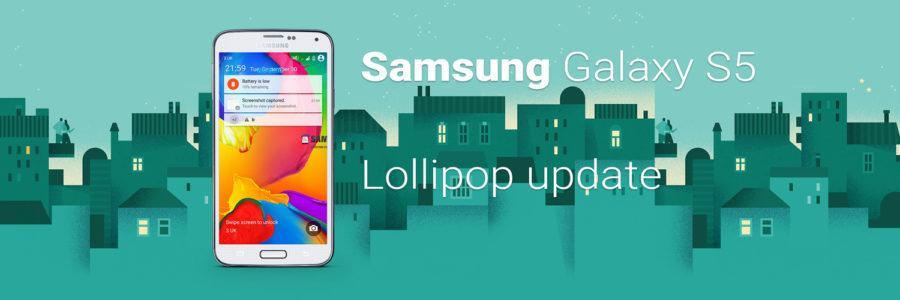 Samsung Galaxy S5 lollipop