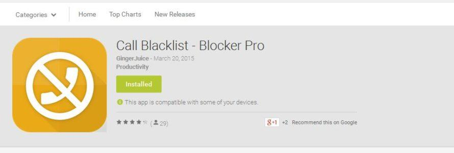 Call Blacklist – jednostavna Android aplikacija za blokiranje brojeva i poruka – koja radi