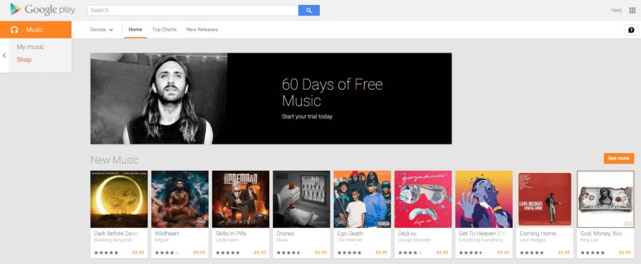 Google Play Music All Access 60 dana